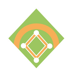 Baseball field isolated vector
