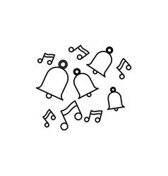 bells tunes icon vector image