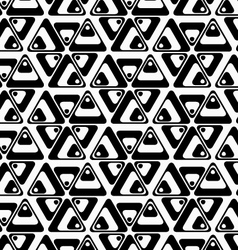 Black and white rotated triangles vector