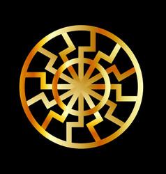 Black sun symbol in gold- schwarze sonne vector