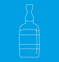 brandy bottle icon outline style vector image