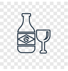 Cachaca concept linear icon isolated on vector