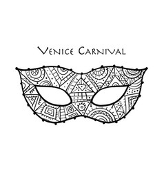 carnival venetian mask ornamental for your design vector image