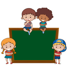 chalkboard and children banner vector image