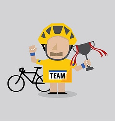Champion Cyclist Athlete vector image