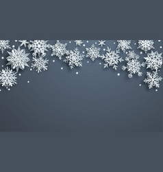 christmas background paper snowflakes vector image