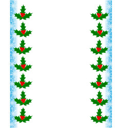 christmas greeting decorative card frame template vector image