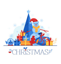 christmas - winter holiday vector image