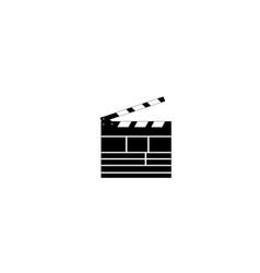 Clapperboard logo vector