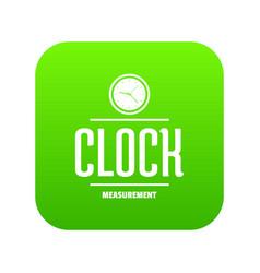 clock icon green vector image