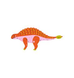 colorful ankylosaurus dinosaur cute prehistoric vector image