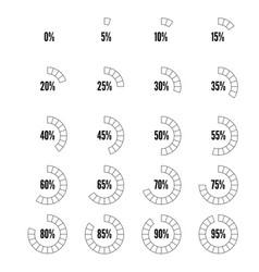 Countur progress indicators set vector