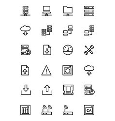 Database and Server Line Icons 1 vector