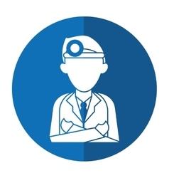 doctor crossed arms wearing head mirror medical vector image