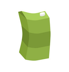 Empty juice box rubbish isolated garbage on white vector
