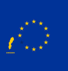 eu flag with sweden country european union vector image