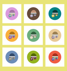 flat icons halloween set of bloody jelly and vector image