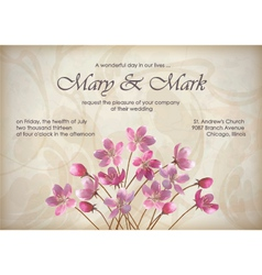 Floral decorative wedding or invitation design vector image