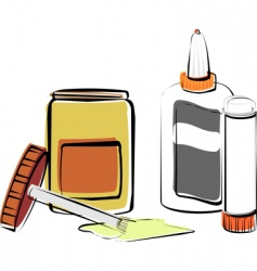 glues vector image