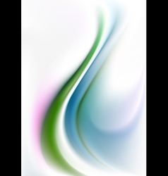 Green and blue curves waves on white gradient mesh vector image vector image