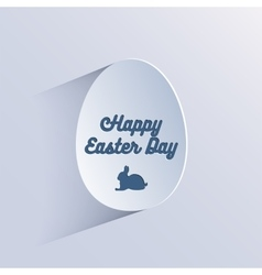 Happy easter lettering in egg on textured paper vector image