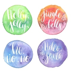 Holly Jolly HoHoHo Hello santa Jingle bells on vector image