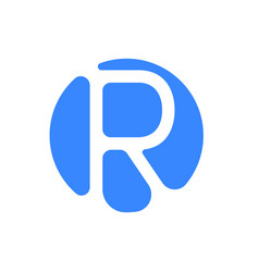 letter logo modern abstract blue icon of letter r vector image