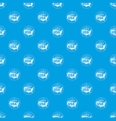 made in usa country pattern seamless blue vector image