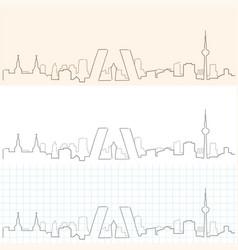 Madrid hand drawn skyline vector