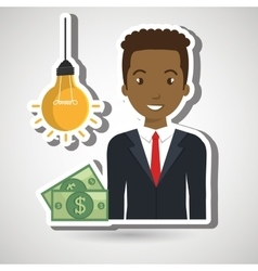 Man money idea vector