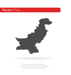Map pakistan isolated black vector