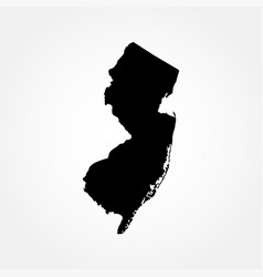 Map us state new jersey vector