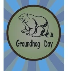 marmot icon Groundhog Day vector image