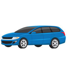 modern blue minivan family car vector image