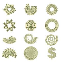 money bills fan vector image