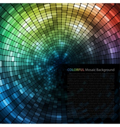 Mosaic Tunnel Background vector