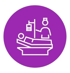 Nursing care line icon vector