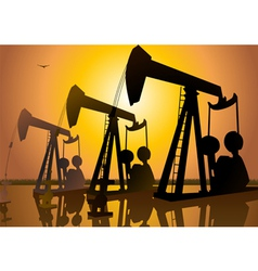 Oil drilling vector