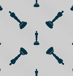 Oscar statuette icon sign Seamless pattern with vector image