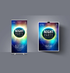 party flyer template on background vector image