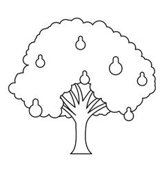 Pear tree icon outline style vector
