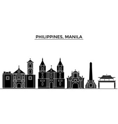 Philippines manila architecture city vector