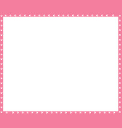pink and white frame made of animal paw vector image