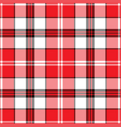 plaid pattern seamless check fabric texture vector image