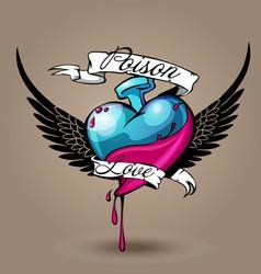 Poison love vector
