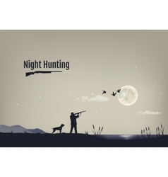 process of hunting vector image