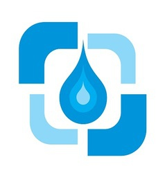 Pure Water drop logo vector image