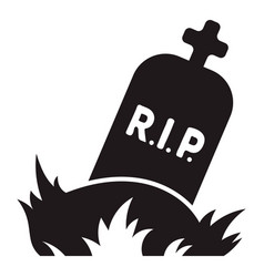 rip grave icon simple style vector image