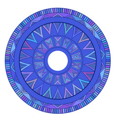 round boho ornament native pattern vector image vector image
