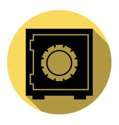 safe sign flat black icon vector image